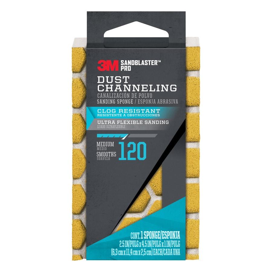 3M SandBlaster Pro 2.5-in x 4.5-in 120-Grit Premium Sanding Sponge