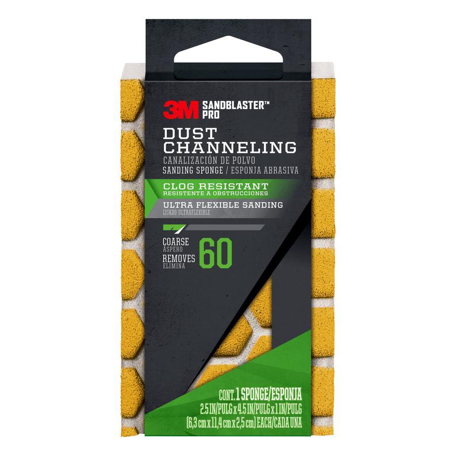 3M SandBlaster Pro 2.5-in x 4.5-in 60-Grit Premium Sanding Sponge