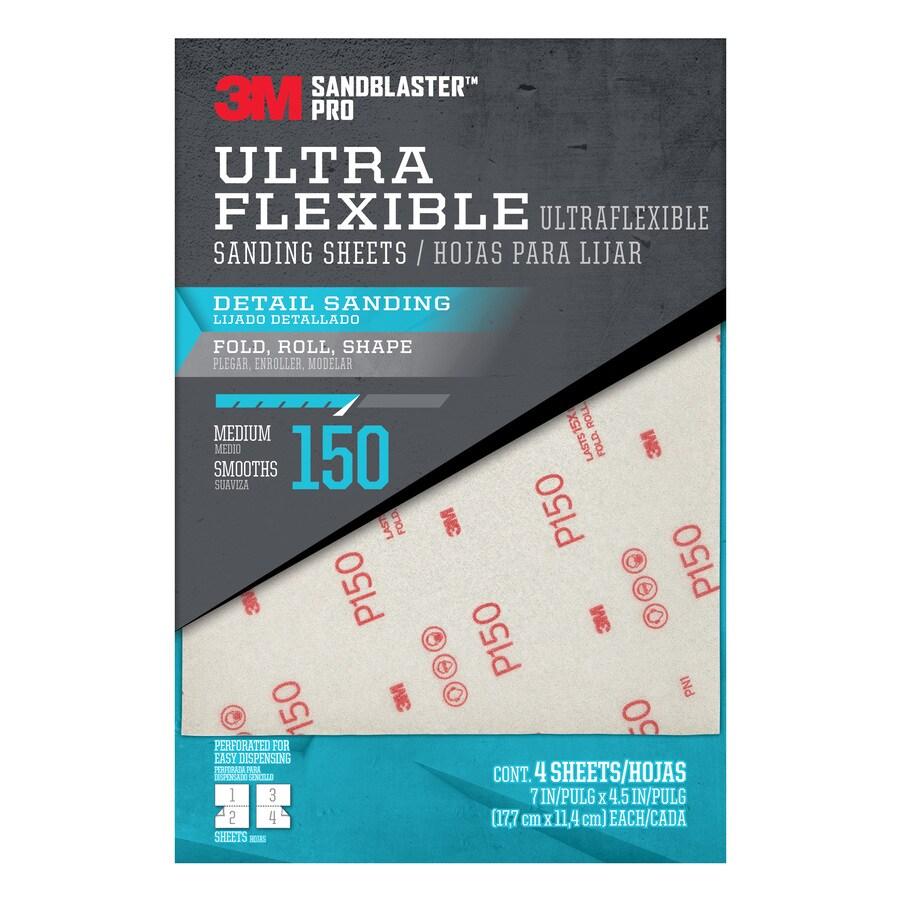 3M 4-Pack 4.5-in W x 7-in L 150-Grit Premium Film Sandpaper