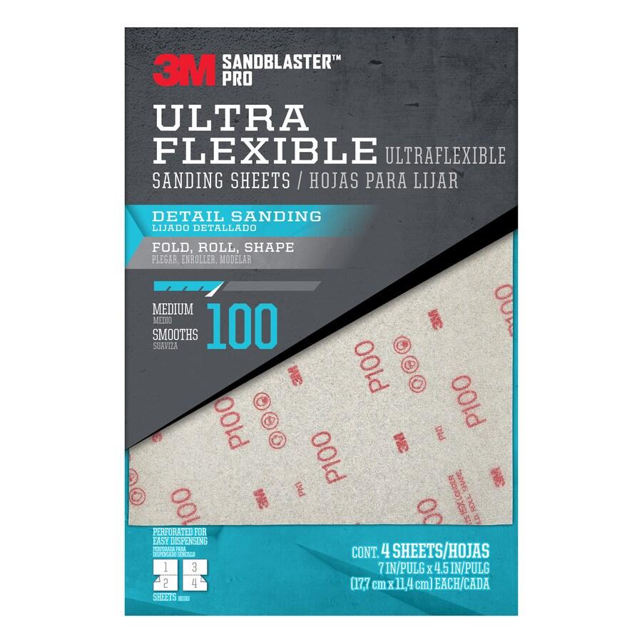 3M SandBlaster Pro 4-Pack 4.5-in W x 7-in L 100-Grit Premium Film Sandpaper