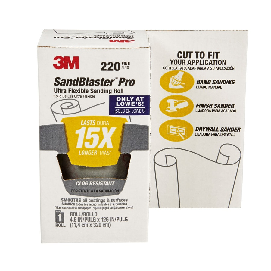 3M SandBlaster Pro 4.5-in W x 126-in L 220-Grit Premium Film Sandpaper