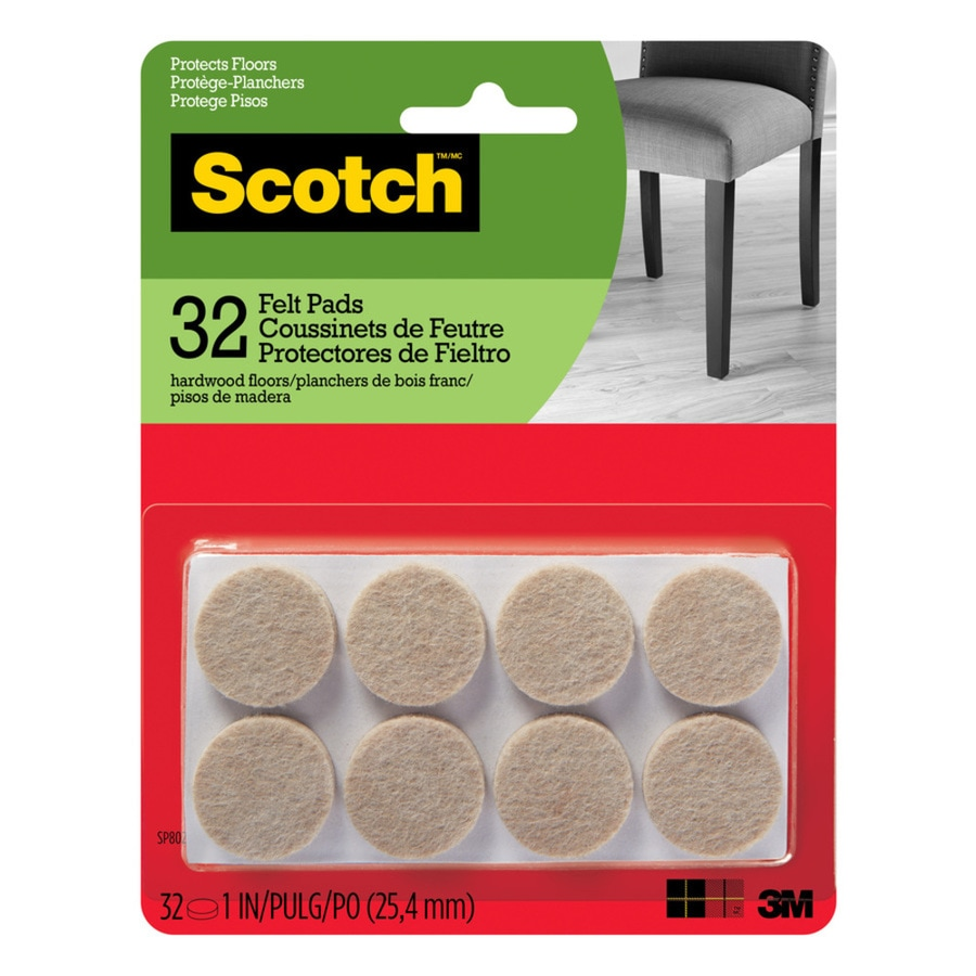 Scotch 32-Pack 1-in Beige Round Felt Pads