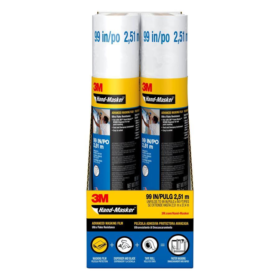 3M 99-in x 90-ft Non-Adhesive Premium Masking Film