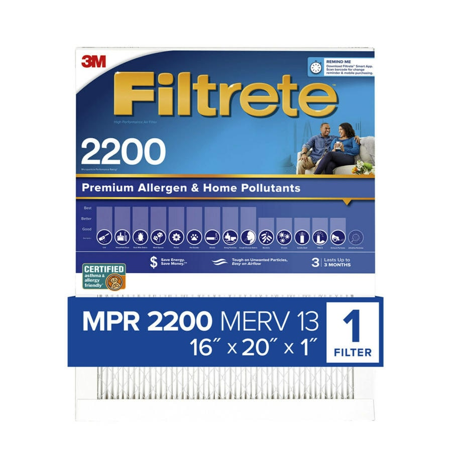 Filtrete (Common: 16-in x 20-in x 1-in; Actual: 15.7-in x 19.6-in x 0.78125-in) Elite Allergen Reduction Electrostatic Pleated Air Filter
