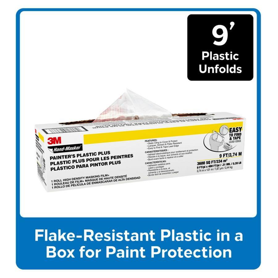 3M 108-in x 400-ft Non-Adhesive Premium Masking Film