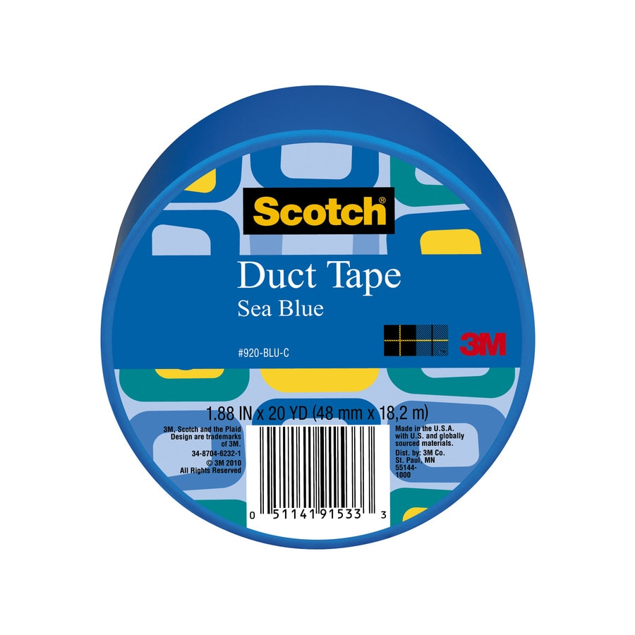Scotch 1.88-in x 60-ft Blue Duct Tape