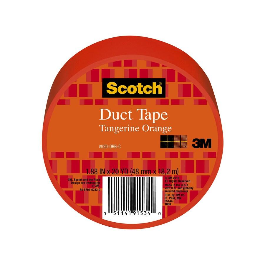 Scotch 1.88-in x 60-ft Orange Duct Tape