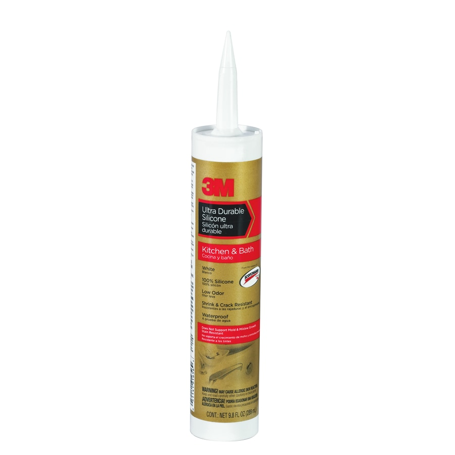 3M 9.8 Oz White Silicone Kitchen And Bathroom Caulk