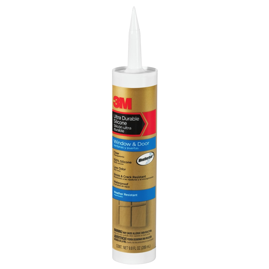 3M 9.8-oz Clear Silicone Window and Door Caulk