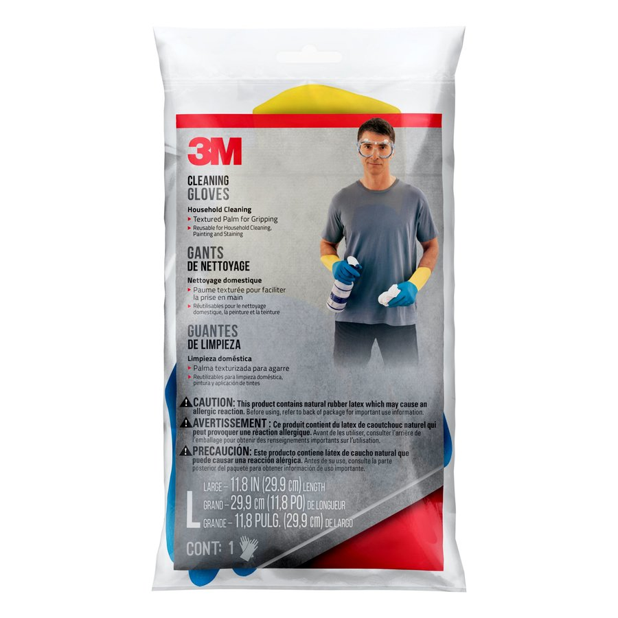 3M 1-Count Large Rubber Cleaning Gloves