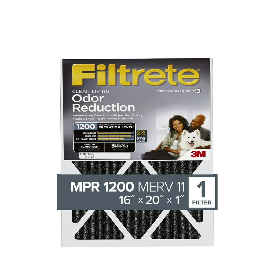 Filtrete (Common: 16-in x 20-in x 1-in; Actual: 15.7-in x 19.6-in x 0.8125-in) Odor Reduction Electrostatic Pleated Air Filter