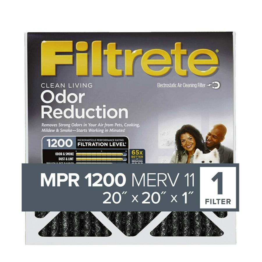 Filtrete (Common: 20-in x 20-in x 1-in; Actual: 19.6-in x 19.6-in x 0.8125-in) Electrostatic Pleated Air Filter