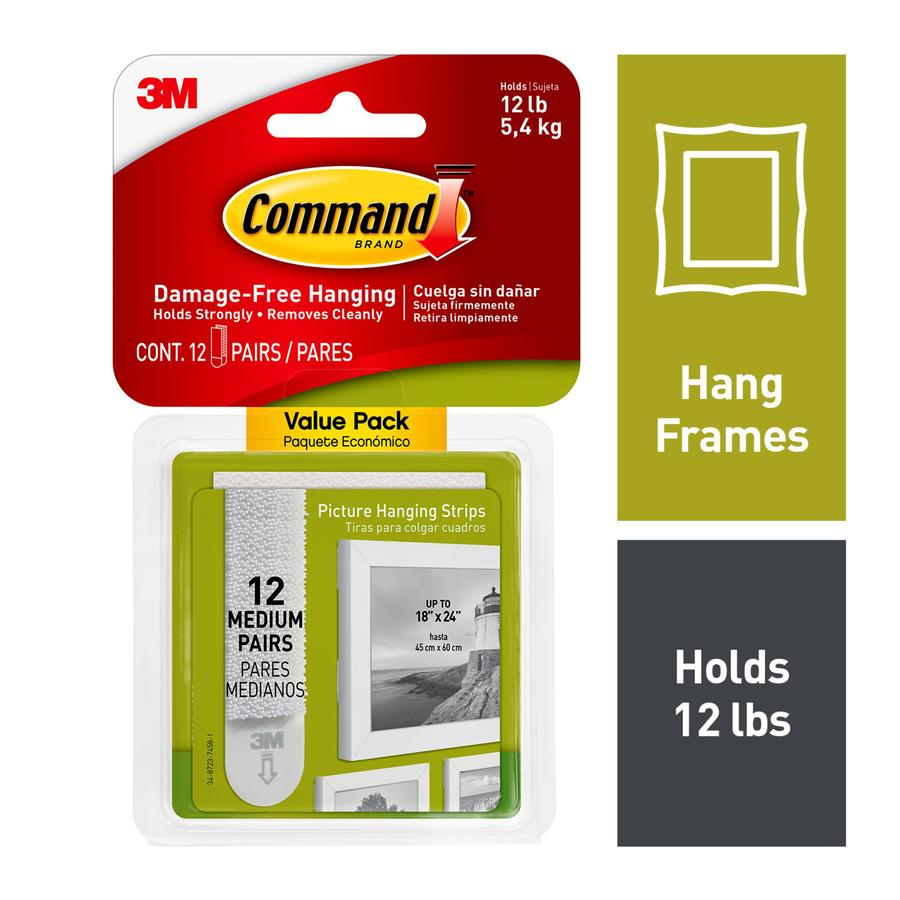 Command Command(Tm) Medium Picture Hanging Strips Value Pack