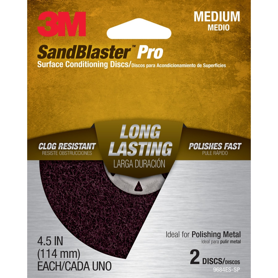 3M 2-Pack 4.5-in W x 4.5-in L Commercial Discs Sandpaper