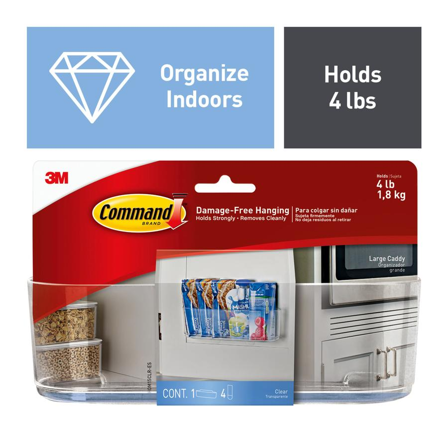 Command Caddy Plastic Adhesive Sink Caddy