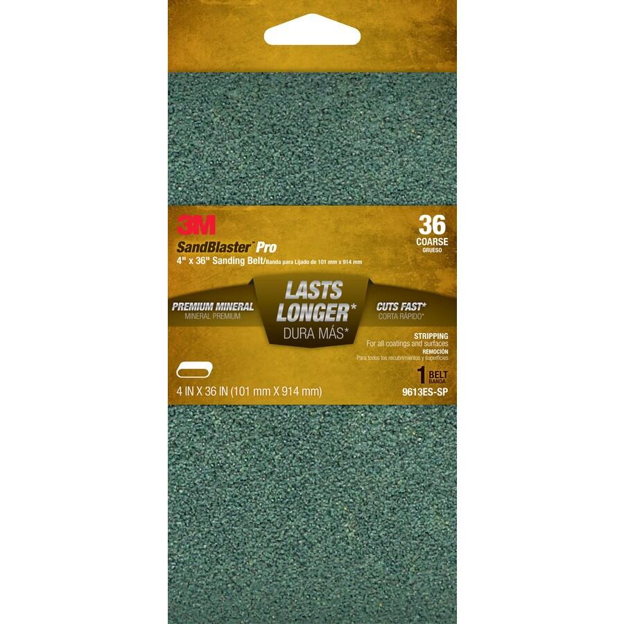 3M 4-in W x 36-in L 36-Grit Commercial Belts Sandpaper