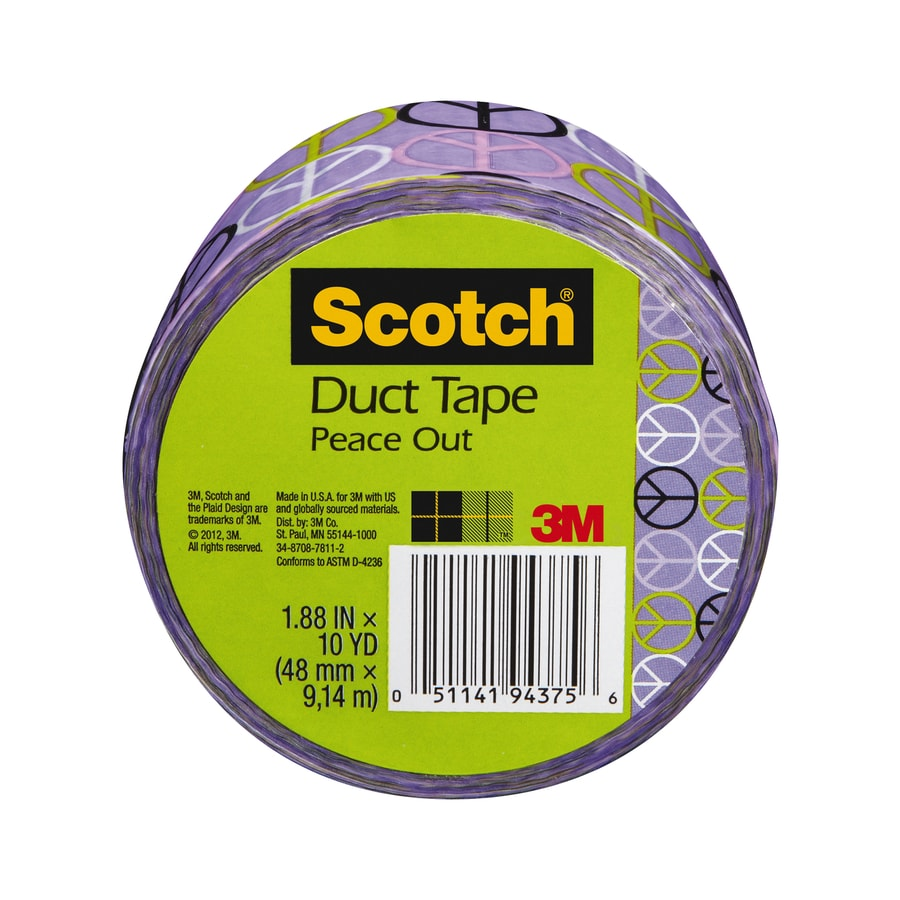 Scotch 1.88-in x 30-ft Purple Peace Duct Tape