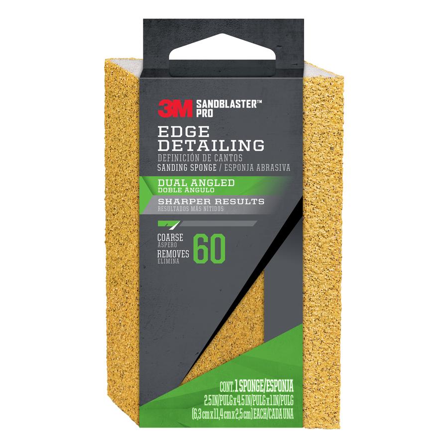 3M SandBlaster Pro 2.5-in x 4.5-in 60-Grit Commercial Sanding Sponge