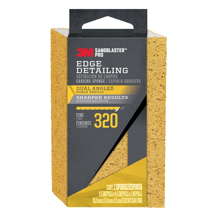 3M 2.5-in x 4.5-in 320-Grit Commercial Sanding Sponge