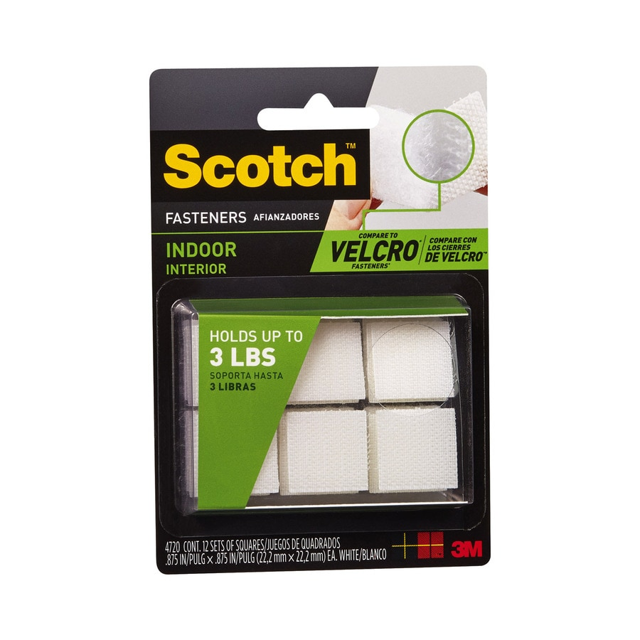 Scotch 4-Pack 0.875-in White Fasteners