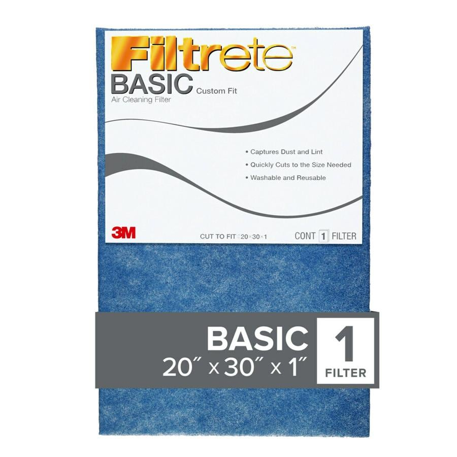 Filtrete Cut to Fit (Common: 20-in x 30-in x 1-in; Actual: 20-in x 30-in x 0.25-in) Washable Adjustable Air Filter