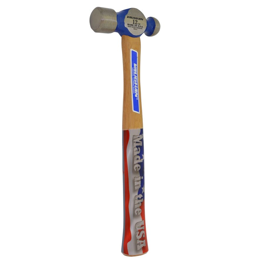 VAUGHAN 12-oz Smoothed Face Steel Ball Peen Hammer