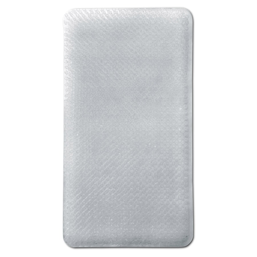 Better Bath 25.5-in x 14-in Clear Vinyl Bath Mat