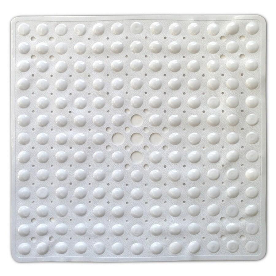 Better Bath 21-in x 21-in White Vinyl Bath Mat