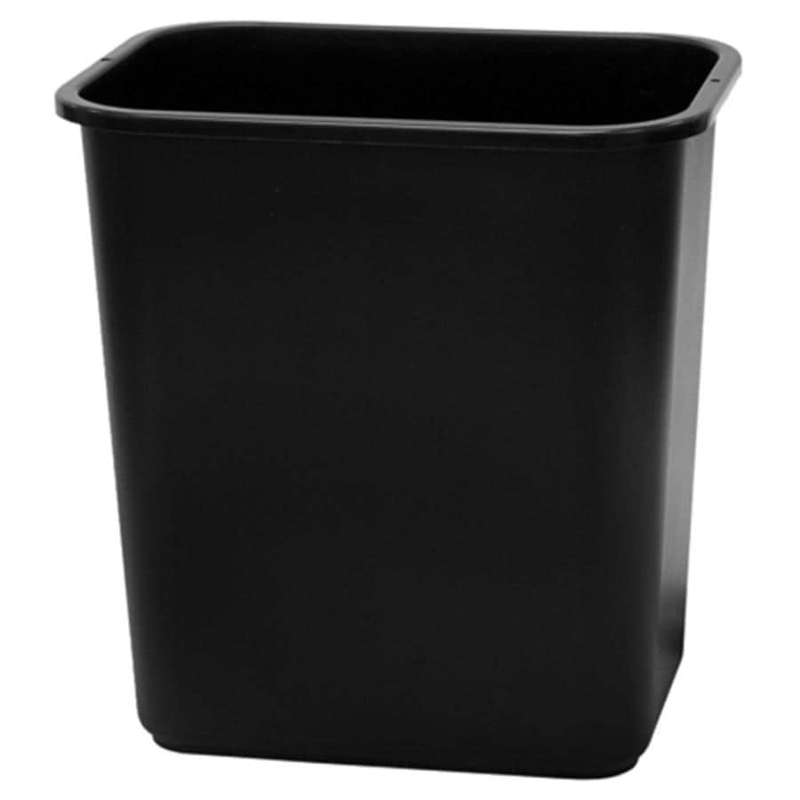 Shop Style Selections 7-Gallon Black Plastic Touchless Trash Can at ...