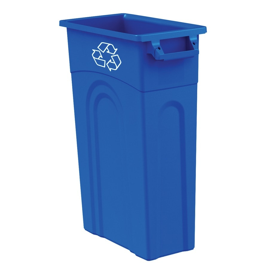shop blue hawk 23 gallon blue recycling bin at. Black Bedroom Furniture Sets. Home Design Ideas