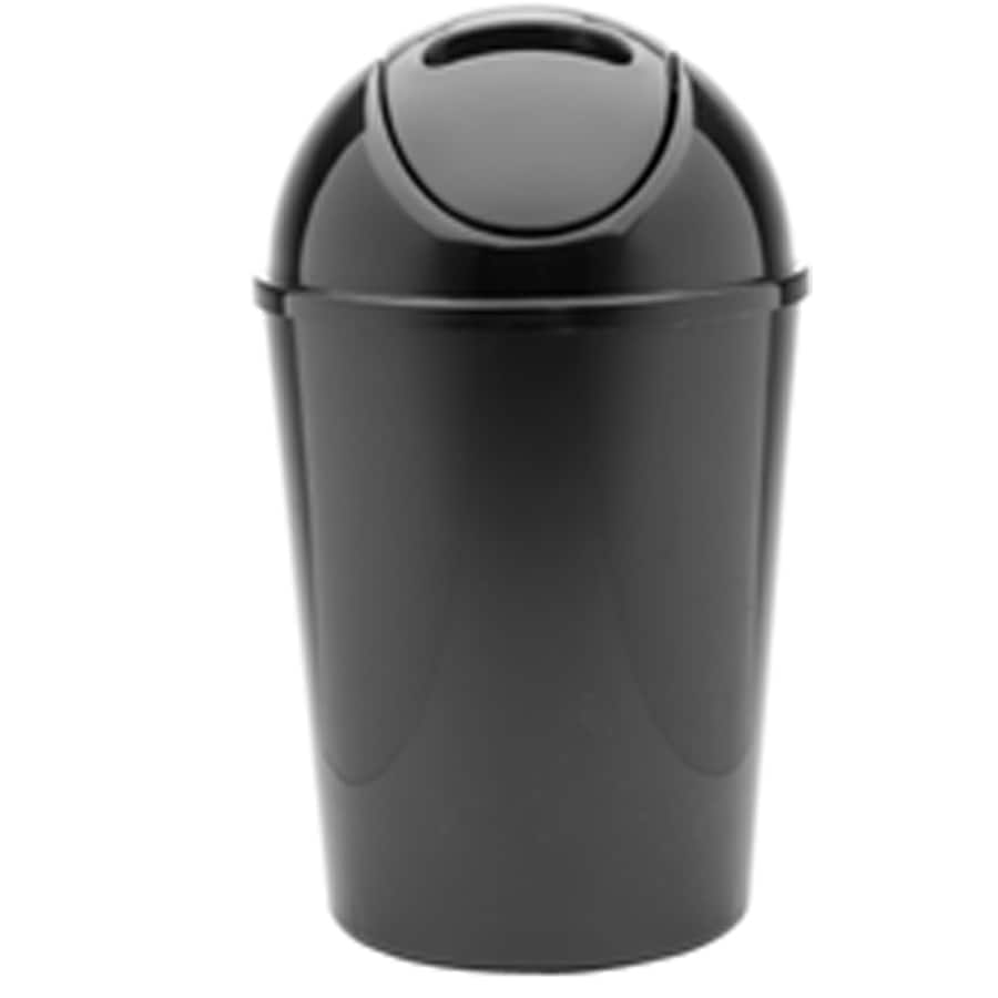 Shop Style Selections Black Plastic Touchless Trash Can With Lid At