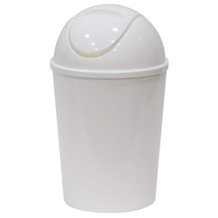 Style Selections 1 38 Gallon White Plastic Touchless Trash