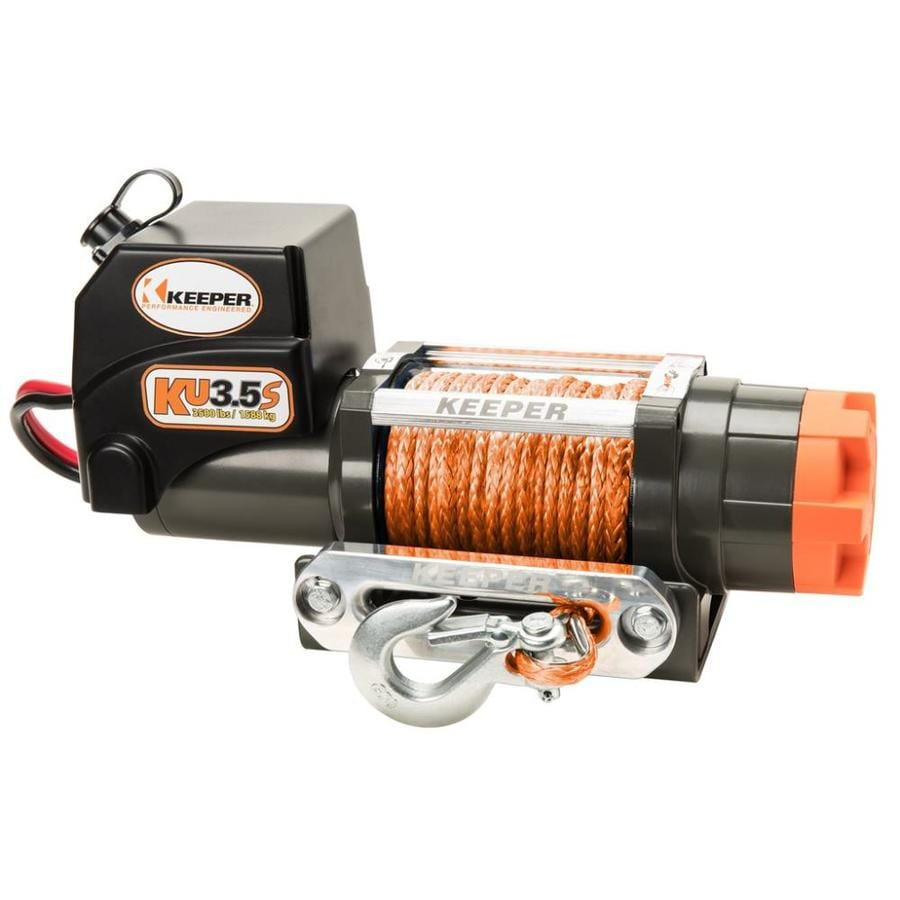 Keeper 1.2-HP 3,500-lb Universal Winch