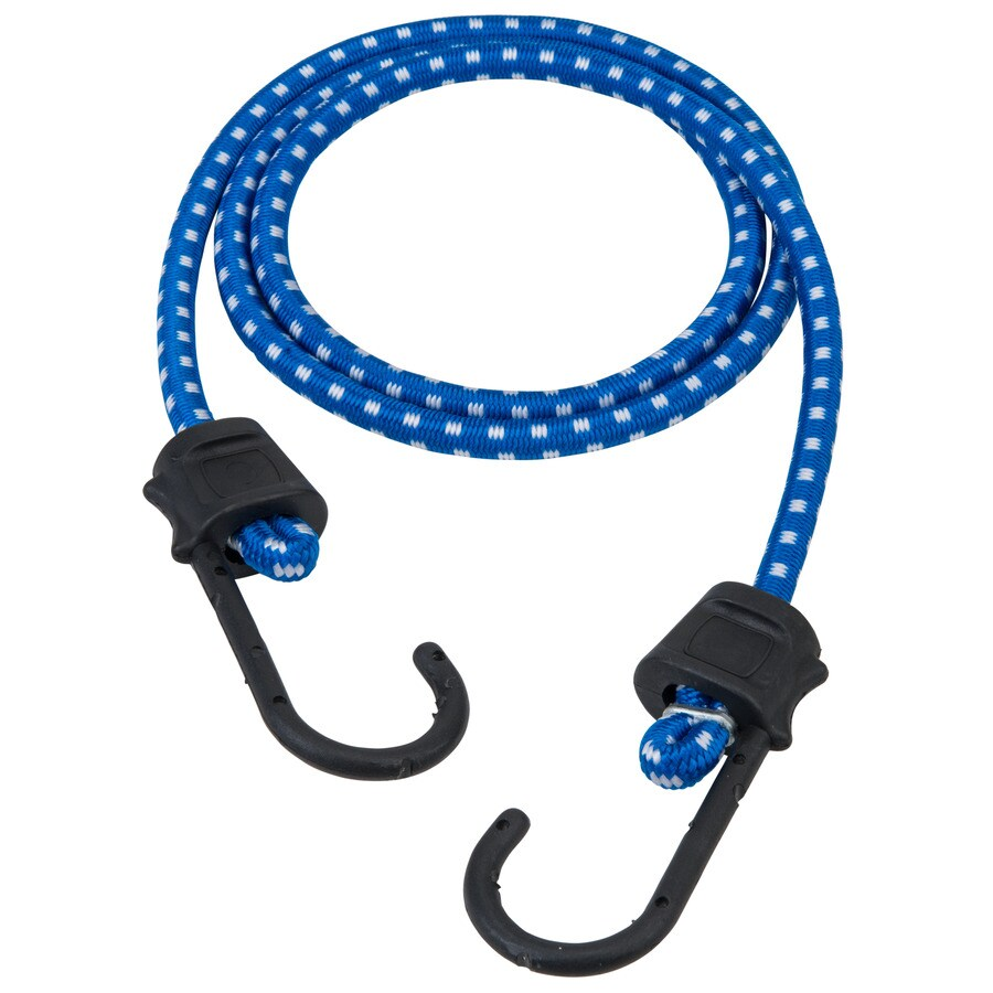 Secure Tite 2-Pack 4-ft Rubber Core Steel Hook Bungee Cords