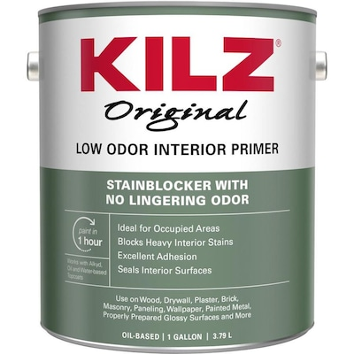 Odorless Interior Multi Purpose Oil Based Wall And Ceiling Primer Actual Net Contents 128 Oz