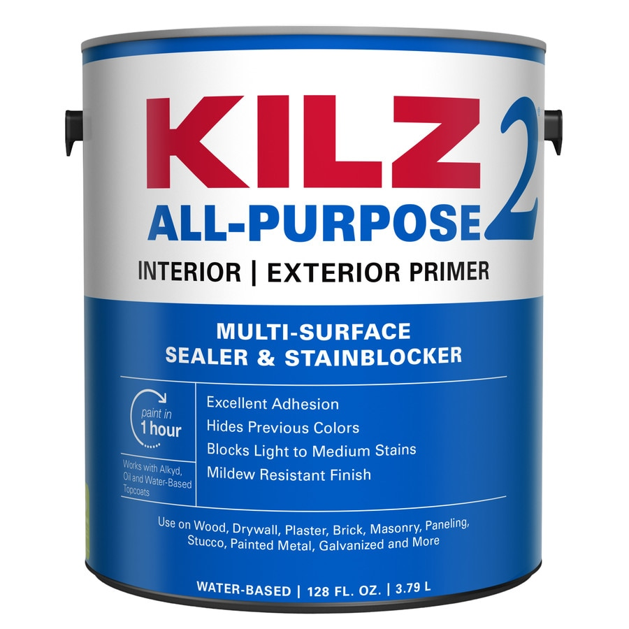 Shop Kilz 2 Interior Exterior Latex Primer Actual Net Contents 128 Fl Oz At