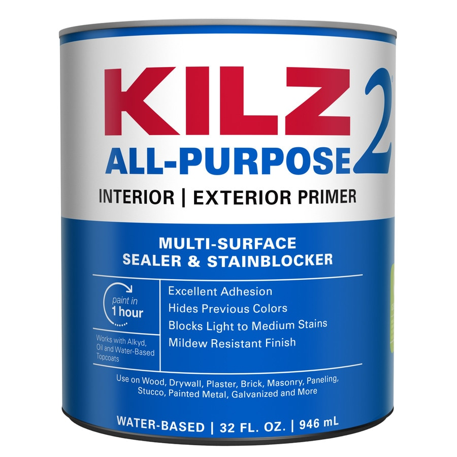 shop kilz 2 interior exterior latex primer actual net contents 32 fl. Black Bedroom Furniture Sets. Home Design Ideas