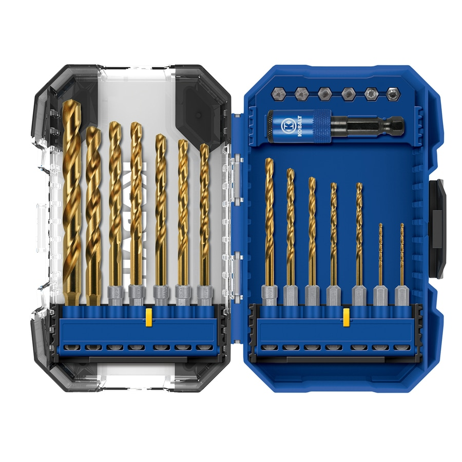 Shop Kobalt 21 Piece Titanium Twist Drill Bit Set For Pvc