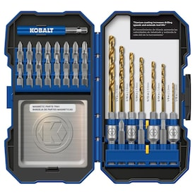 Kobalt 40-Piece Titanium Coated HSS Twist Drill Bit Set