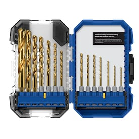 Kobalt 14-Pack Titanium Coated HSS Right Handed Twist Drill Bit Set at Lowes - $12.98 in 77% of stores