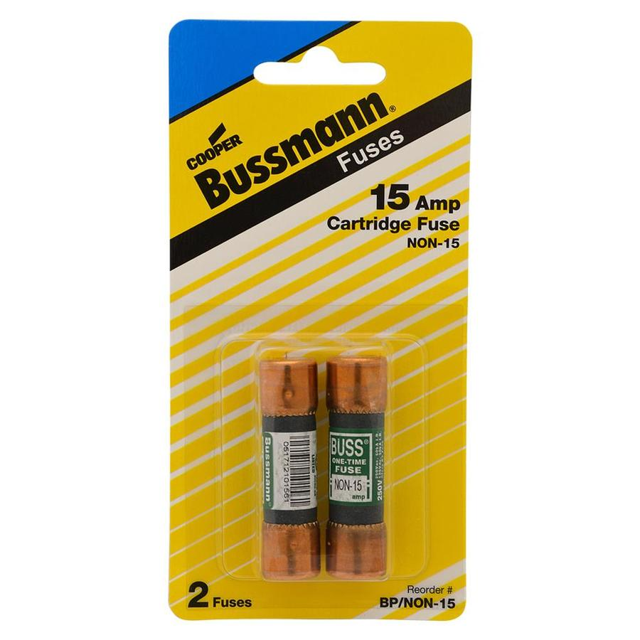 Shop Cooper Bussmann 2 Pack 15 Amp Fast Acting Cartridge