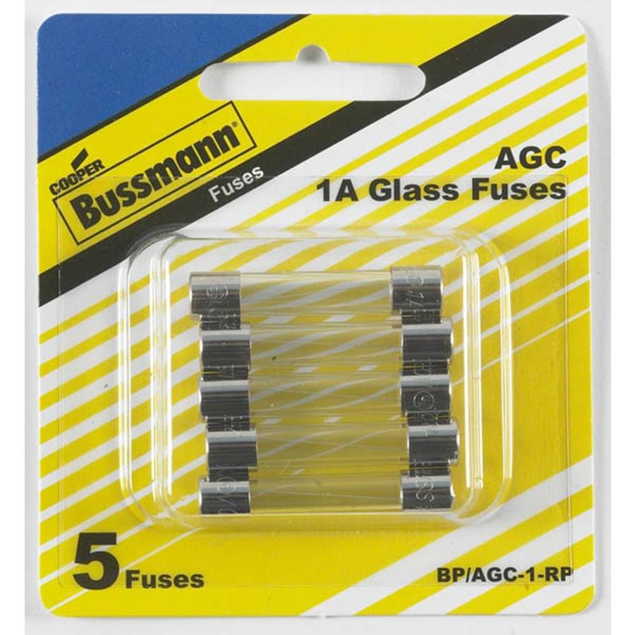 Cooper Bussmann 5-Pack 1-Amp Fast Acting Electronic Fuse