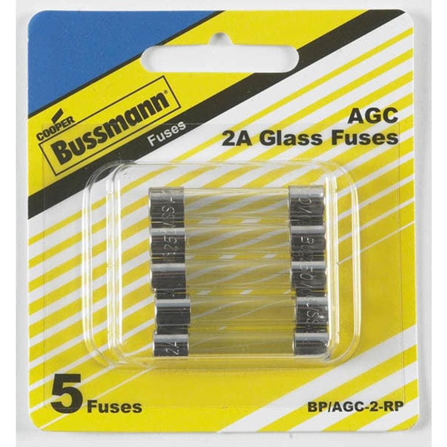 Cooper Bussmann 5-Pack 2-Amp Fast Acting Electronic Fuse