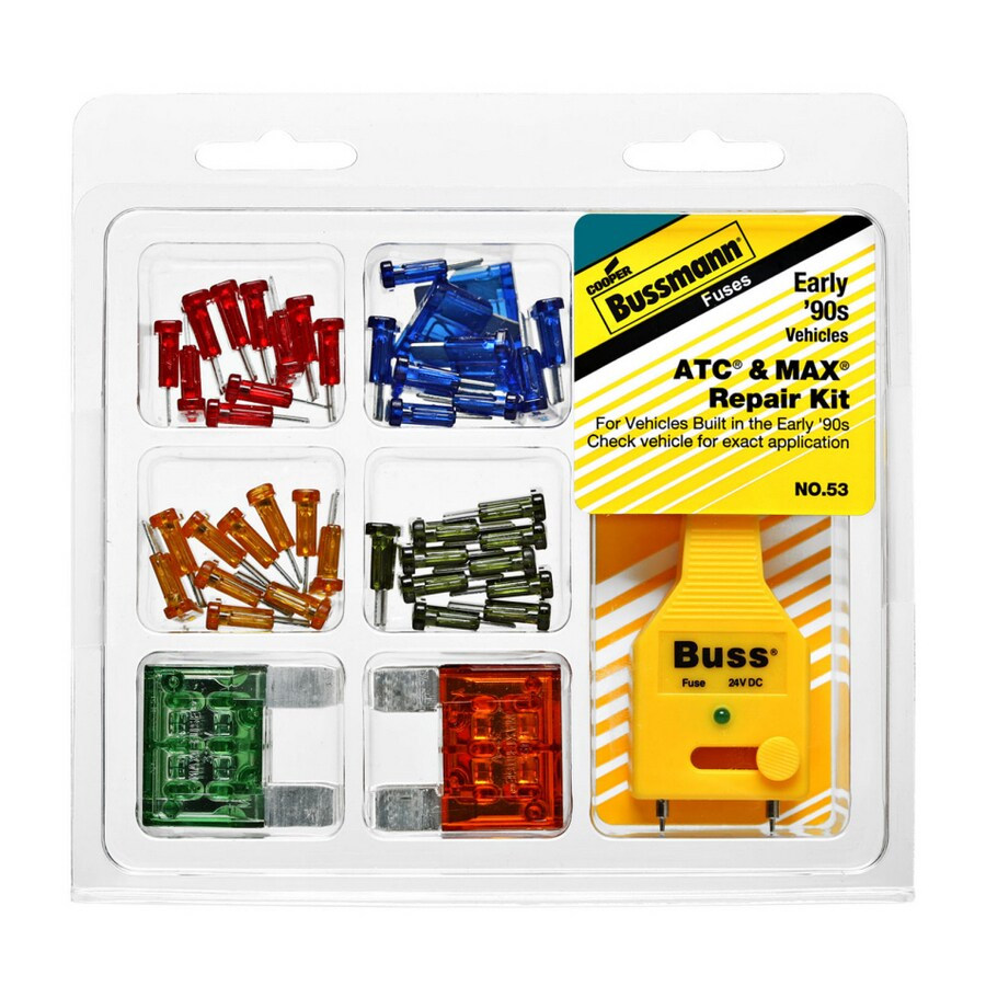 Cooper Bussmann 45 Piece ATC and MAX Fuse Kit with Fuse Tester/Puller
