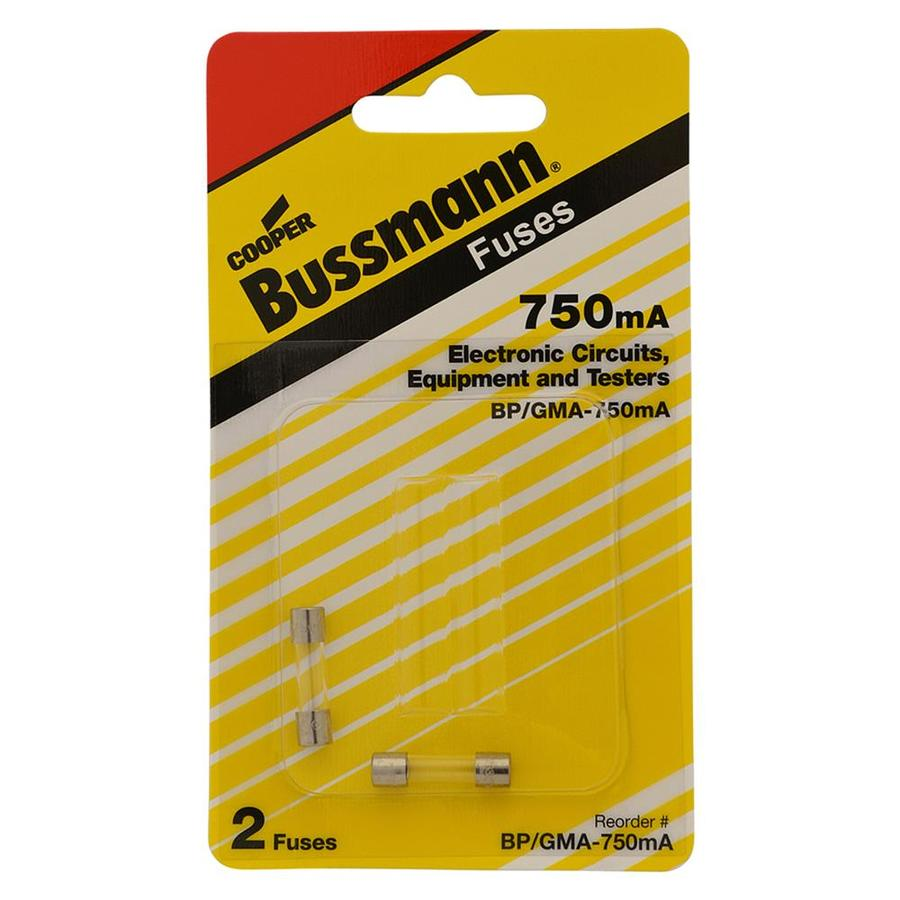 Cooper Bussmann 2 Pack 0 75 Amp Fast Acting Electronic