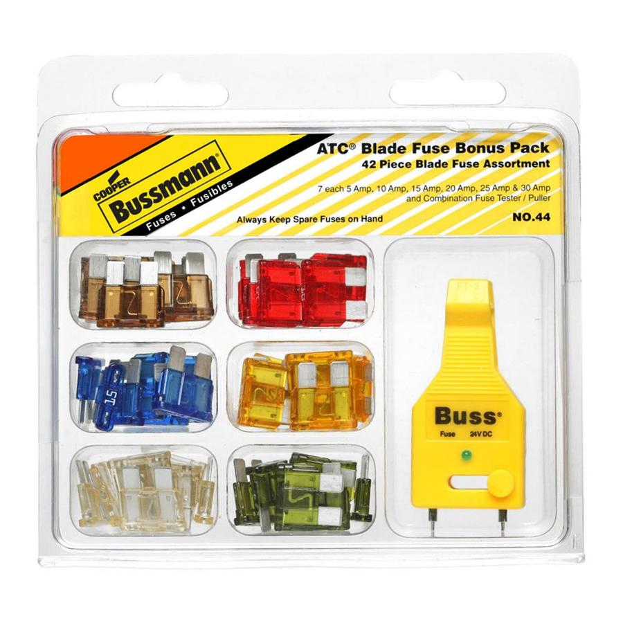 Shop Fuses At Add A Circuit Atc Standard Blade Fuse Holder Connector Cooper Bussmann 43 Pack 30 Amp Fast Acting Auto
