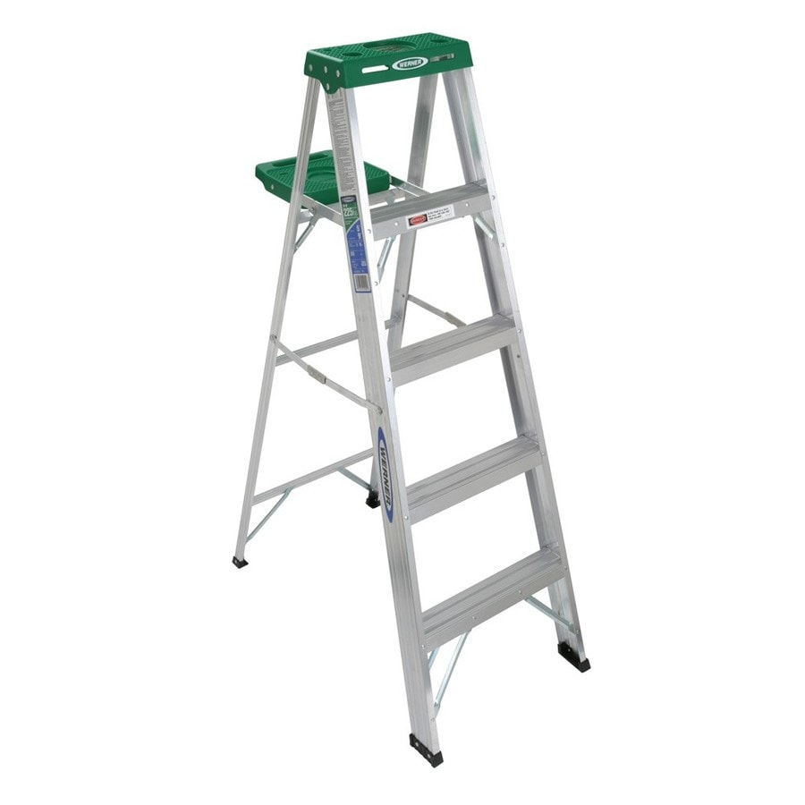 Werner 5-ft Aluminum 225-lb Type II Step Ladder