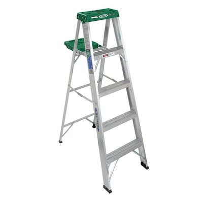 Amazing 350 5 Ft Aluminum Type 2 225 Lbs Capacity Step Ladder Ocoug Best Dining Table And Chair Ideas Images Ocougorg