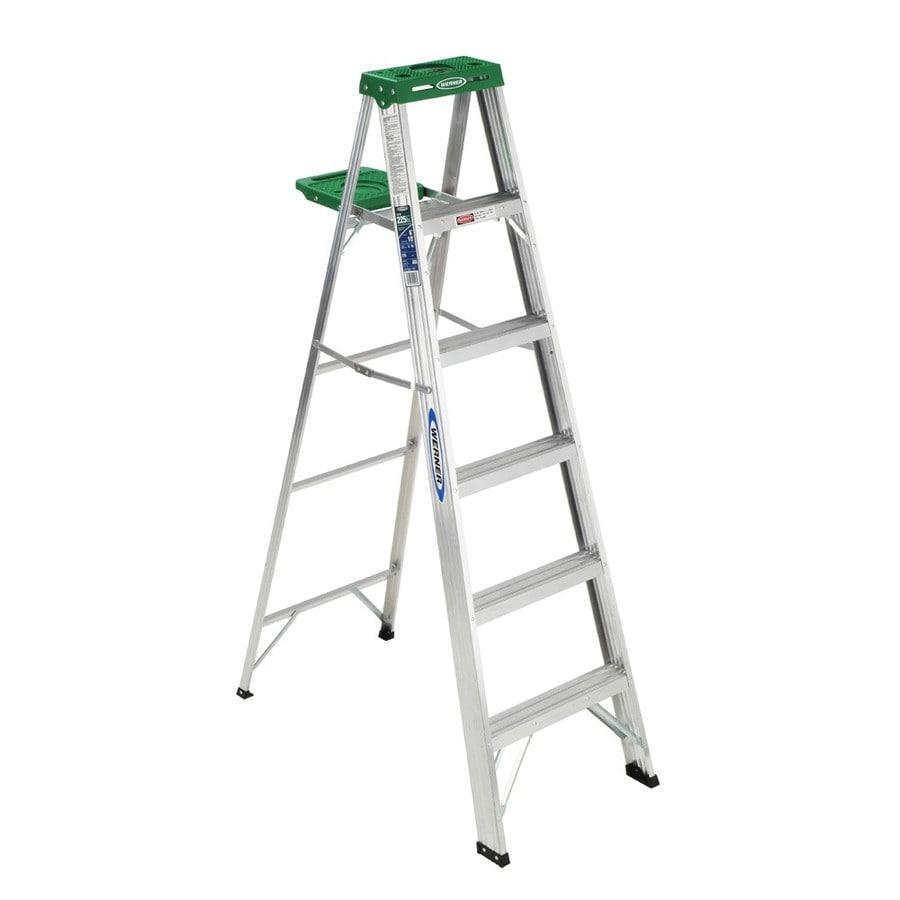 Werner 6-ft Aluminum 225-lb Type II Step Ladder