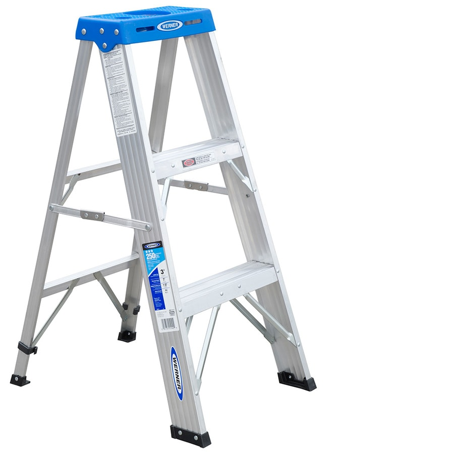 Werner 3-ft Aluminum Type 1 - 250 lbs. Step Ladder
